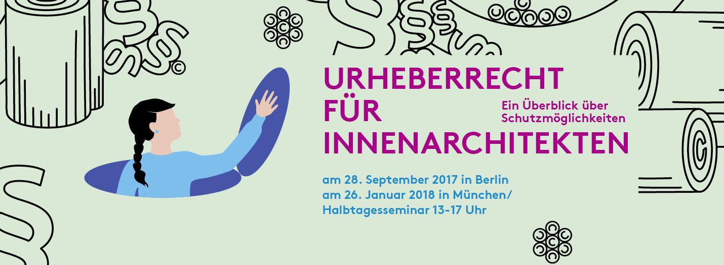 """urheberrecht für innenarchitekten"""" am 28. september 2017 in berlin, Innenarchitektur ideen"""