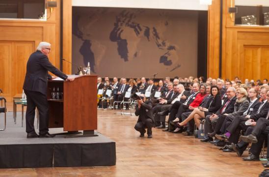 3. Außenwirtschaftstag: Eröffnungsrede von Bundesaußenminister Frank-Walter Steinmeier im Weltsaal des Auswärtigen Amts