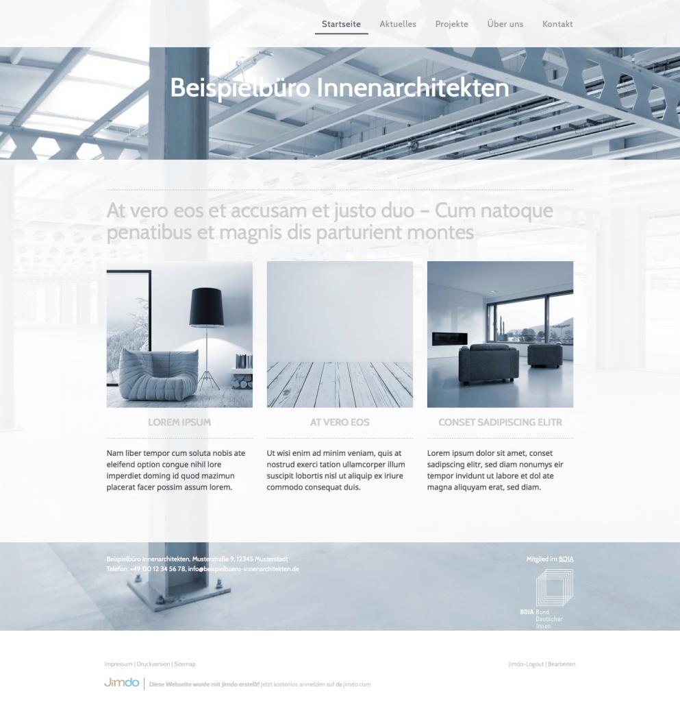 Website baukasten f r bdia mitglieder bund deutscher for Jobborse innenarchitektur