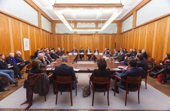 Workshop Vergabe, Verträge, Streitlösungen im Adenauer-Saal des Auswärtigen Amtes. Foto: Till Budde