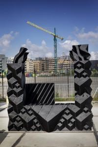 Nederland, Amsterdam, 11-09-2014. 3D Print Canal House project. Met een 3d printer en lijm wordt in Amsterdam Noord een huis geprint. Foto: Olivier Middendorp