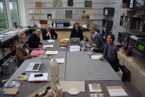 Präsidiumssitzung im Materiallabor der PBSA