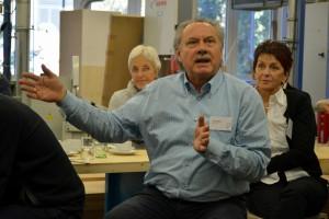 Planerfrühstück, lebhafte Diskussionen… ehemaliger Vorsitzender BDIA Baden-Württemberg Wolfgang Mayer