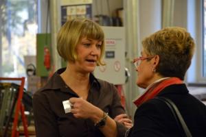 Planerfrühstück: NRW Vorsitzende Gritt Bartels und Vizepräsidentin Claudia Schütz