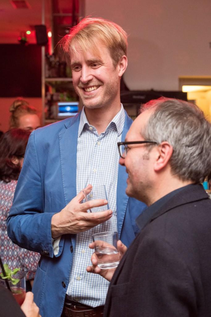 Welcome Abend im Café KIT – BDIA Bundesgeschäftstführer Constantin von Mirbach (li.) und Prof. Jens Wendland (re.)
