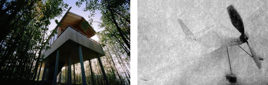"""""""Schnee"""" und """"Baumhaus, Hofgut Hafnerleiten (studio lot)"""" © beide: Antje Hanebeck"""