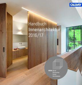 BDIA Handbuch Innenarchitektur 2016/17_Cover