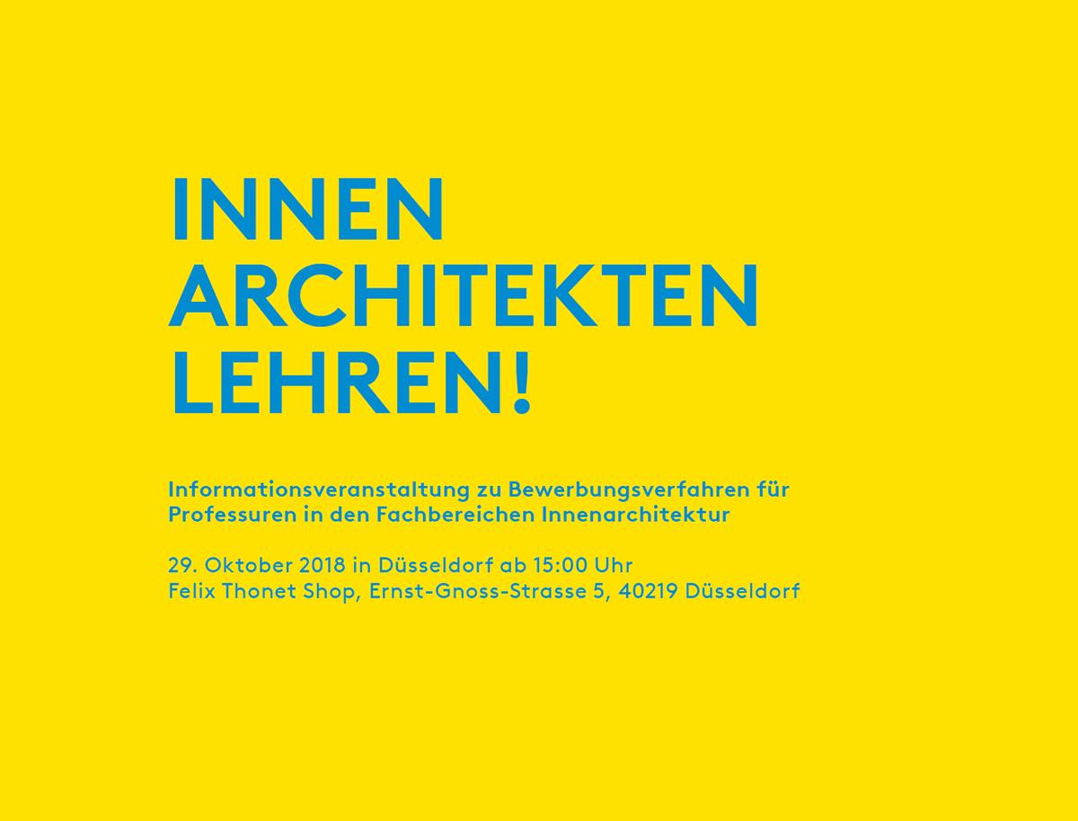 Thema Innenarchitekten in die Lehre   bund deutscher ...