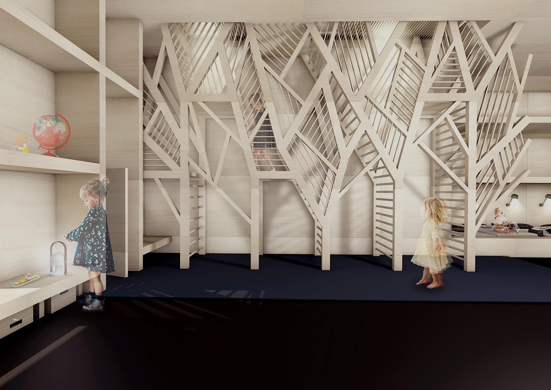 bdia ausgezeichnet master f r amelie peters waldkind bund deutscher innenarchitekten bdia. Black Bedroom Furniture Sets. Home Design Ideas